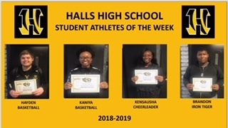 HHS Honors Student Athletes of the Week
