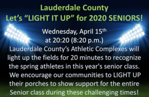 "Let's ""LIGHT IT UP"" for 2020 SENIORS!"