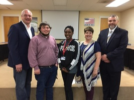 RHS Students Showcase CTE Programming to WestStar Leadership