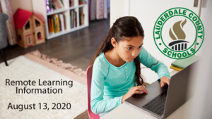 Important Remote Learning Information - 8-13-2020