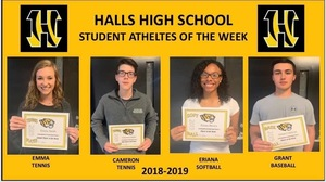 HHS Announces Student Athletes of the Week
