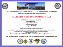 Students invited to Military Service Academy Day