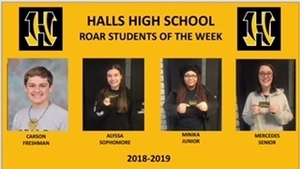 HHS recognizes ROAR Students of the Week