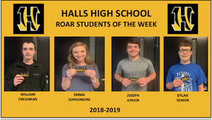 HHS Announces ROAR Students of the Week