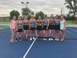 HHS Tennis Team Wins District Tournament