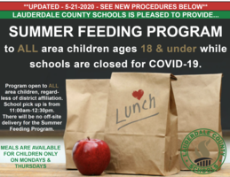 Student Meal Program Transitions to Summer Feeding Program