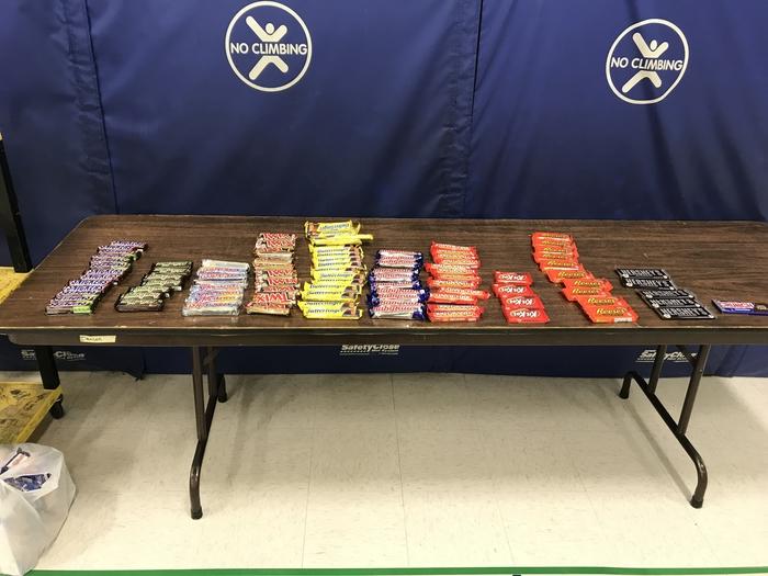 Full size candy bars for our summer learners.