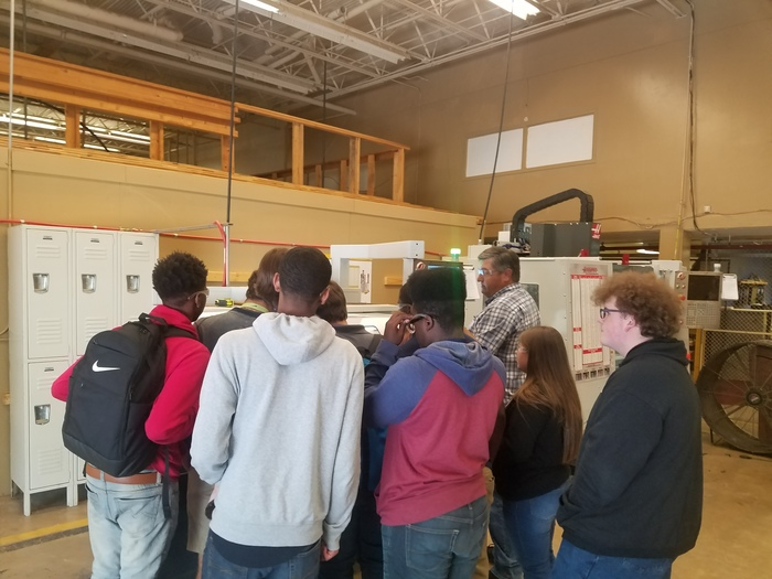 11th grade students got to visit the TCAT Machining class offered at RHS. This is unique class and opportunity for the students at RHS. See the counselors for more details.
