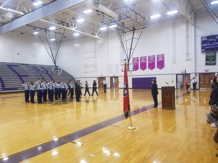 JROTC Students performed a memorial service to pay homage to lives lost in the 9/11 tragedy.