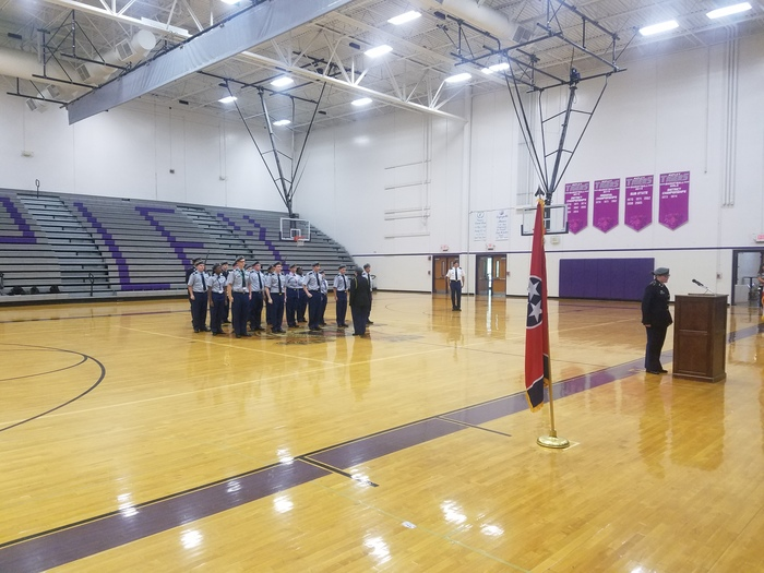 JROTC Performing the 9/11 Memorial Program for RHS
