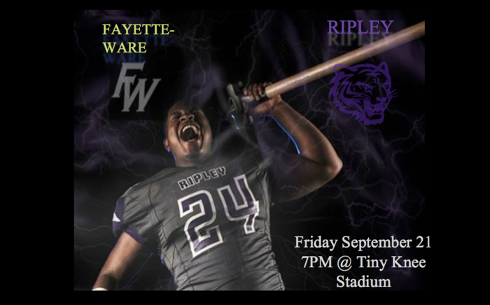 Homecoming Football game vs Fayette Ware Friday night at 7 pm