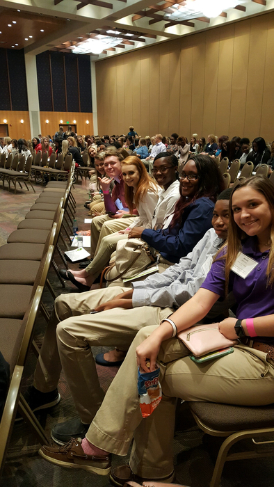 HOSA students getting ready to listen to various speakers