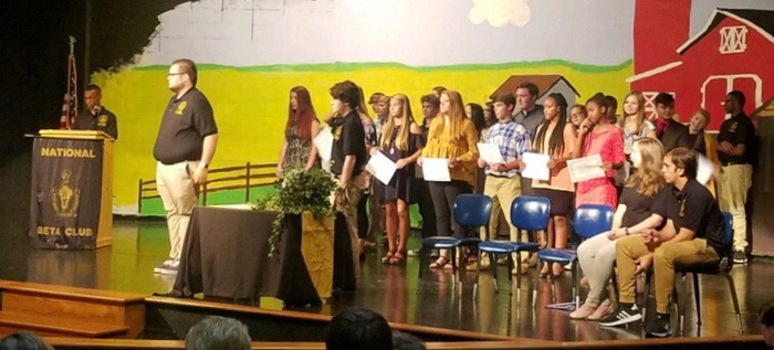 Students induction into RHS Beta