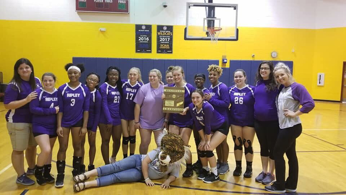 Ladies Volleyball team won region championship