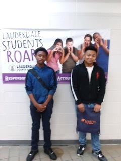 Clyde Xavier, and Aaleigha (not pictured) were caught ROARing this week at RHS. All 3 students helped a teacher or other student without being asked. We love watching our students grow in responsibility.