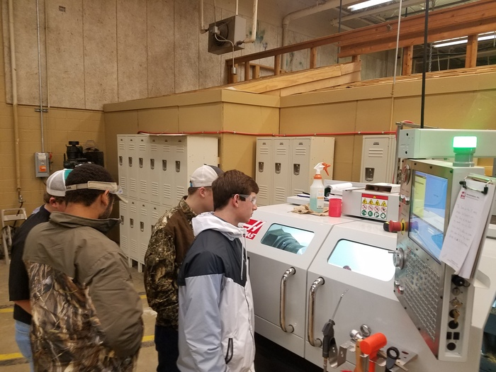 Machining Tech class in action