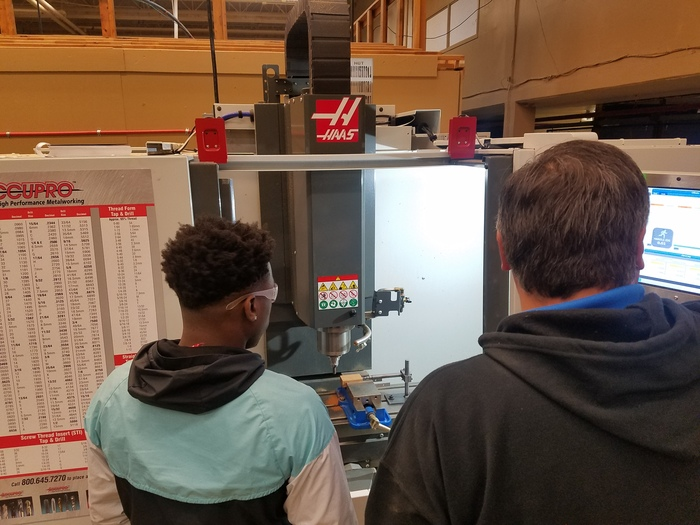 TCAT Machining Tech class in action