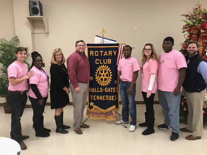 RHS AWARE Ambassador Students that attended the International Bullying Prevention Conference, presented to the Rotary Club in Halls and Gates. They spoke about the conference they attended in San Diego and the AWARE program in Lauderdale County.