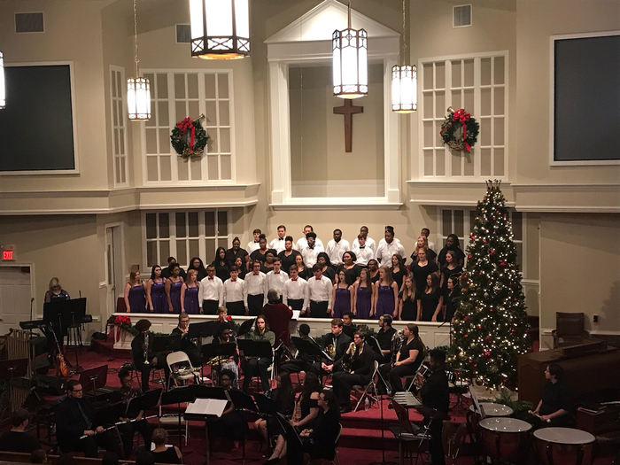 RHS & HHS Choir and RHS Band gave an amazing performance last night at the concert at First Baptist Church.