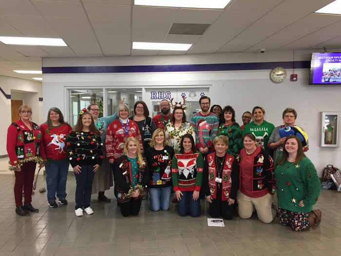 RHS Teachers and Staff participated in the annual Ugly Christmas Sweater contest this week.