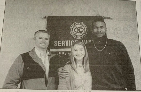 The Lauderdale County Exchange Club held it's bi-monthly meeting Jan. 17 at the Carl Perkins Center. RHS Students, Jamari and Cara were named Students of the Month. Jamari plans to play basketball in college and eventually become an athletic trainer. Cara plans to attend Jackson State to play softball and eventually become a sports medicine physician assistant.