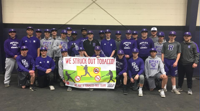 RHS Baseball Team has pledged to be a tobacco free team! #gotigers #TNTobaccoFree #TNSTRONG