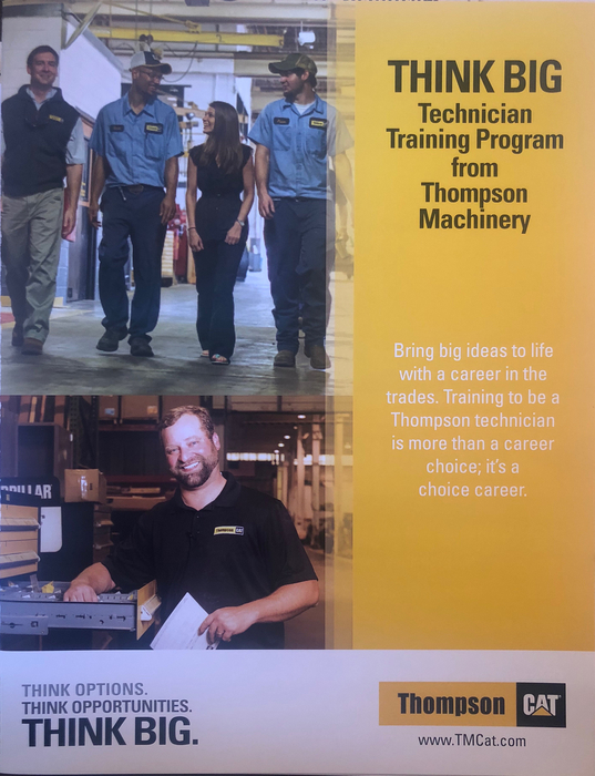 Representatives from Thompson Machinery/Cat were at RHS Friday to talk to some of our students about work ethic, job opportunities, and their THINK BIG Technical Training Program.  If you want to know more about this program contact the counseling office.