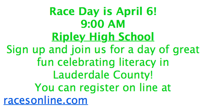 Lace Up for Literacy Race