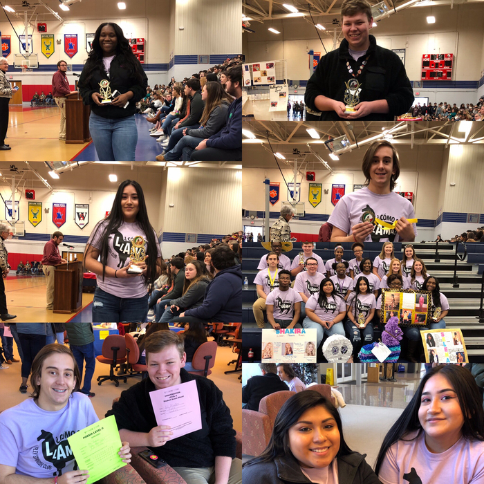 RHS Spanish Fair contestants placed fabulously today!  1st place poetry 3rd place vocabulary 1st place Hispanic main dish 1st place Hispanic entree