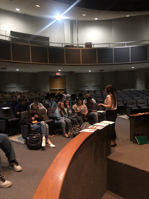 Dyersburg State Community College visited RHS seniors that have applied to their institution. They discussed the next steps students would need to do before beginning classes at DSCC.