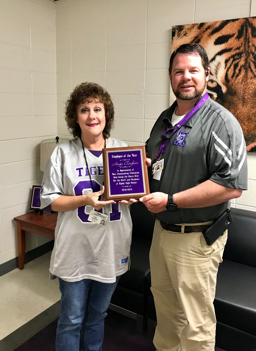 Congratulations to Mrs. Angie on being voted Employee of the Year!