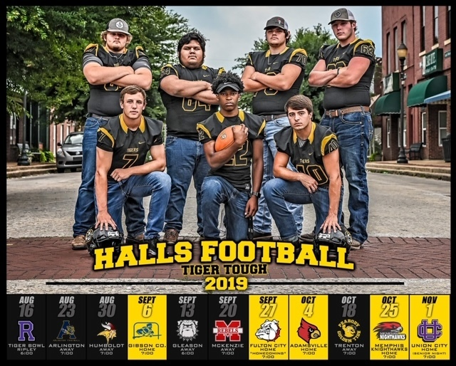 2019-20 Halls High Football Schedule #seniors #tigertough