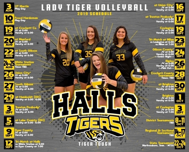2019-20 Volleyball Schedule #seniors #tigertough