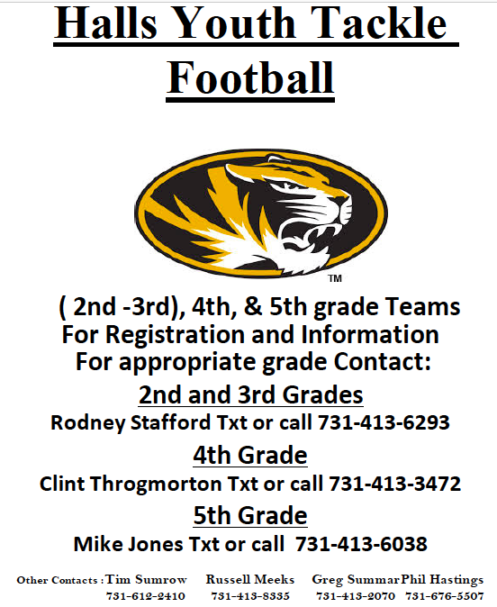 Youth Football sign up