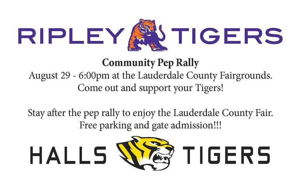 We hope to have a great turn out for the community pep rally!