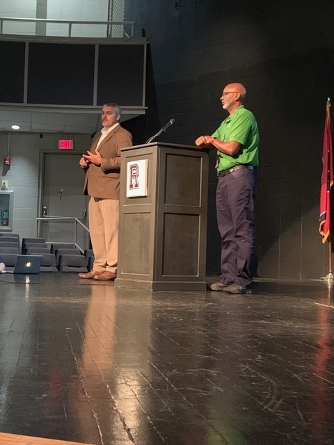 Thank you to Mr. Edwards for taking time yesterday to address Ripley HS seniors collectively and individually at the Work Ethic Kickoff event. RHS will continue to emphasize the standards through the advisory program and the ROAR program.