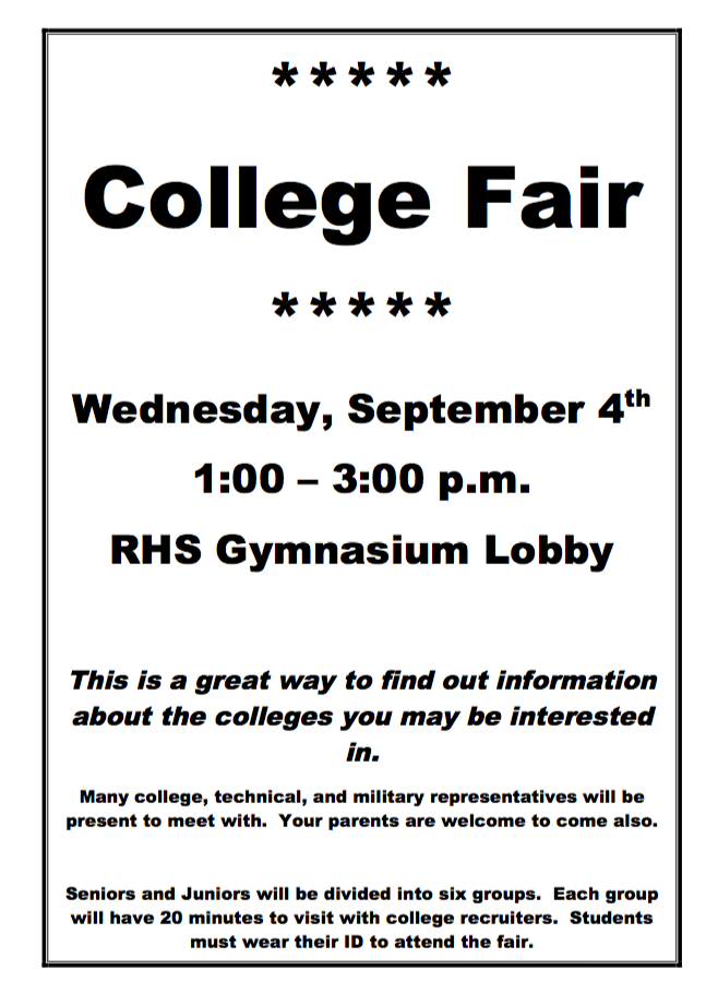 Annual RHS College Fair