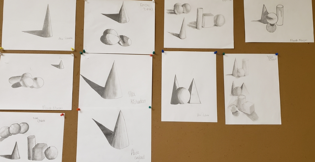 Here are some of the great pieces of work from Mr Simpson's Art 1 class.