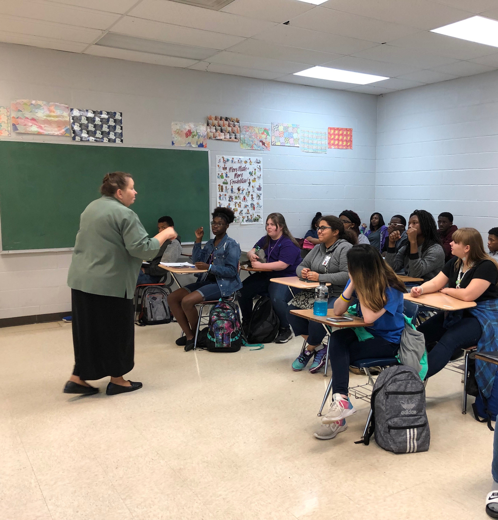 Psychology class had special speaker Cheree Stout today who taught them some sign language and discussed deaf culture for their chapter on sensation and perception.