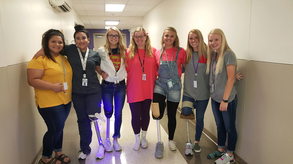 Student teams created lower leg prosthetic protypes using various ordinary material. Each team then demonstrated the  use of their design while giving insight on the materials they chose to use to create stability, functionality, and durability.