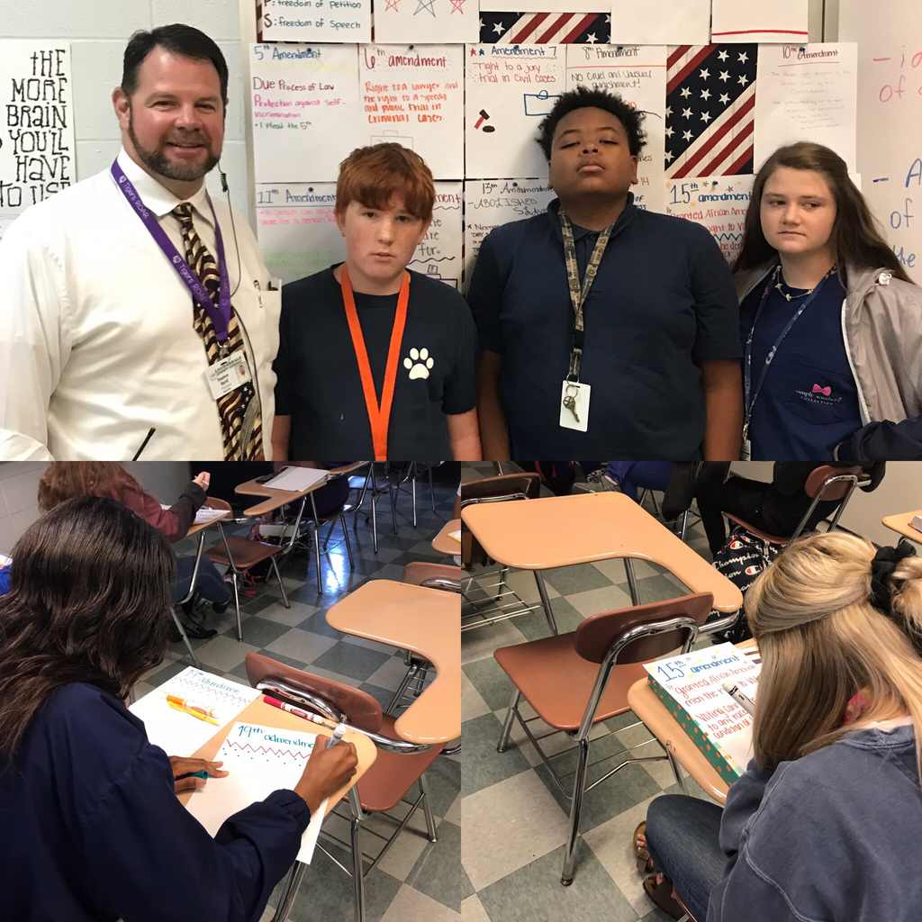 In celebration of Constitution Day, Coach Doles' students created many projects to learn about the importance of our Constitution.