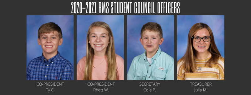 2020-2021 Student Council Officers