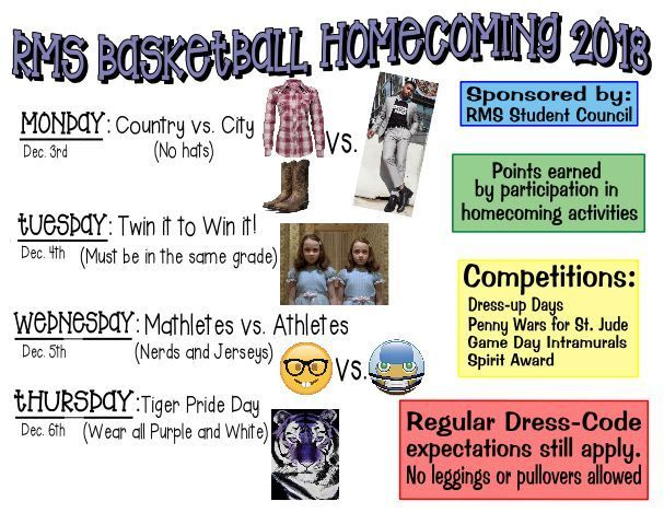 Basketball Homecoming- Dec. 3-6